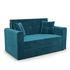 Диван Мебель-АРС Санта (бархат сине-зеленый  STAR VELVET 43 BLACK GREEN) - фото 1