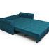 Диван Мебель-АРС Гранд (бархат сине-зеленый/STAR VELVET 43 BLACK GREEN) - фото 5