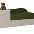 Диван ЛигаДиванов Джуниор левый 102198 микровельвет зеленый/бежевый - фото 1