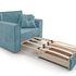 Кресло Мебель-АРС Санта (велюр голубой - Luna 089) - фото 6