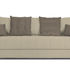 Диван ТриЯ «Бернард» (Neo 02 (рогожка) бежевый подушка Neo 04 (рогожка) светло-коричневый) - фото 2
