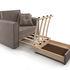 Кресло Мебель-АРС Санта (бархат серо-шоколадный) - фото 7