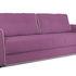 Диван ТриЯ «Оливер» (Maserati 18 (велюр) фиолетовый  кант Miami 01 (рогожка), песочный) - фото 1
