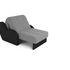 Кресло Мебель-АРС Аккордеон Барон серый (рогожка + экокожа) - фото 6