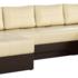 Диван Mebelico Сенатор-П 94 п-образный 59356 экокожа бежевый/коричневый - фото 1