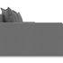 Диван ТриЯ левый «Люксор Slim Т2» (Neo 07 (рогожка) светло-серый) - фото 5