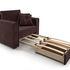 Кресло Мебель-АРС Санта (велюр шоколадный) - фото 6