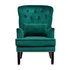 Кресло Garda Decor 24YJ-7004-07342/1 (бархатное зеленое с подушкой) - фото 1