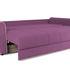 Диван ТриЯ «Оливер» (Maserati 18 (велюр) фиолетовый  кант Miami 01 (рогожка), песочный) - фото 6