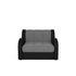 Кресло Мебель-АРС Аккордеон Барон серый (рогожка + экокожа) - фото 2