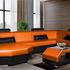Диван Tiolly Мартин-2 угловой (черно-оранжевый) - фото 1