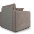 Кресло Мебель-АРС Санта (бархат серо-шоколадный) - фото 5