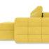 Диван ТриЯ правый «Райс Slim Т1» (Maserati 11 (велюр), желтый) - фото 3