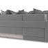 Диван ТриЯ левый «Люксор Slim Т1» (Neo 07 (рогожка) светло-серый) - фото 4
