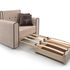 Кресло Мебель-АРС Санта (кордрой бежевый) - фото 6