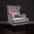 Кресло Garda Decor 24YJ-7004-06418/1 (велюровое дымчато-розовое с подушкой) - фото 5