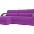 Диван ЛигаДиванов Форсайт угол левый микровельвет фиолетовый - фото 1