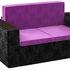 Диван Mebelico Арси 2 микровельвет фиолетовый/черный - фото 1