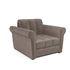 Кресло Мебель-АРС Гранд (бархат серо-шоколадный) - фото 1
