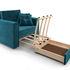 Кресло Мебель-АРС Санта (бархат сине-зеленый) - фото 7