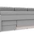 Диван ТриЯ правый «Аспен Slim Т1» (Neo 07 (рогожка) светло-серый) - фото 4