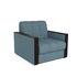 Кресло Мебель-АРС Техас голубой Luna 089 (микровелюр) - фото 1