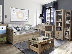 Детская комната Детская комната Домашняя мебель Темпо (с кроватью-диваном под два матраса)