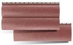 Сайдинг Сайдинг Альта-Профиль Blockhouse Красно-коричневый (однопереломный виниловый)