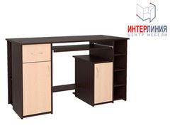 Письменный стол Интерлиния СК-006 Дуб венге+Дуб молочный