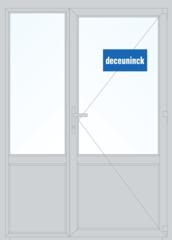 Дверь ПВХ Дверь ПВХ Deceuninck Фаворит Спэйс 1500*2100 1К-СП двустворчатая Модель 11