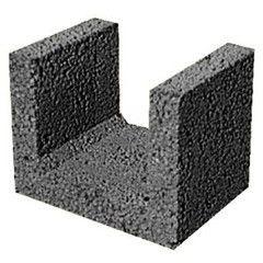 Блок строительный Завод керамзитового гравия г. Новолукомль Термокомфорт лотковый 225x300x240 (для перемычек)