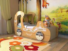 Детская кровать Детская кровать СлавМебель Карета с 2 ящиками (оранжевая)