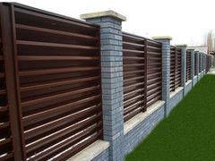 Забор Забор МСК Инвест Забор-жалюзи двухсторонний (цвет 8017/8017)