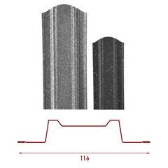Забор Забор RoyalRoof Трапеция Л116 (Полимер порошковое покрытие Metallic)