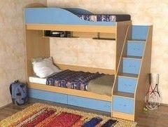 Двухъярусная кровать СлавМебель Дуэт (лестница с ящиками)