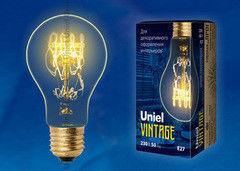 Лампа Лампа Uniel IL-V-A60-60/GOLDEN/E27 SW01