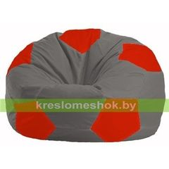 Бескаркасное кресло Бескаркасное кресло Kreslomeshok.by Мяч М 1.1-332 серо - красный