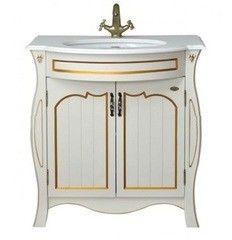 Мебель для ванной комнаты Атолл Тумба с умывальником Ривьера dorato