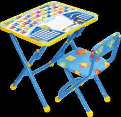 Детский стол Nika КУ1 Первоклашка (синий)