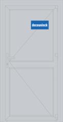 Дверь ПВХ Дверь ПВХ Deceuninck Фаворит Спэйс 900*2100 одностворчатая Модель 2