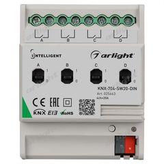 Arlight INTELLIGENT ARLIGHT Релейный модуль KNX-704-SW20-DIN (BUS, 4x20A)