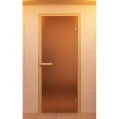 Дверь для бани и сауны Дверь для бани и сауны ALDO Стандарт бронза матовая 700х2100