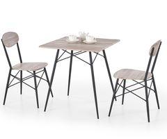 Обеденный стол Обеденный стол Halmar Kabir (стол + 2 стула) дуб сан ремо