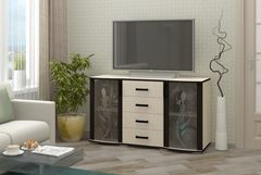 Подставка под телевизор Регион 058 Берк 6 со стеклом (Ясень Шимо Светлый)