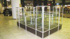 Торговая мебель Торговая мебель Valtera Торговая витрина из закаленного стекла 8мм