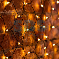 Декоративная светотехника Гирлянда NEON-NIGHT Сеть 1х1.5 м, черный ПВХ, 160 LED тепло-белые 215-116