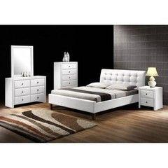 Кровать Кровать Halmar Samara (белая)