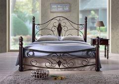 Кровать Кованая кровать Red&Black Dynasty-160x200 (Темный орех)