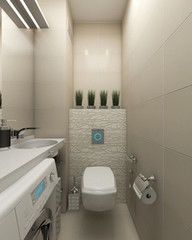 Дизайн ванной IVIART Проект №14