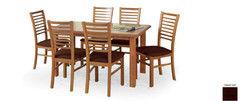 Обеденный стол Обеденный стол Halmar Emil (темный орех) 140-180/80/74